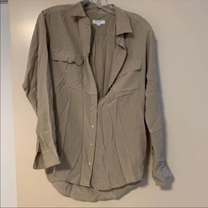 Equipment beige taupe blouse size XS